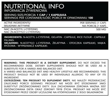 FSN Nutrafine NAC N-acetylo-l-cysteina 100 kaps