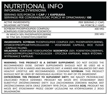 FSN Nutrafine Phosphatidylserine 100 kaps