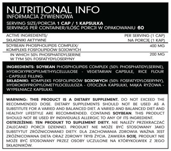 FSN Nutrafine Phosphatidylserine50%60 kaps